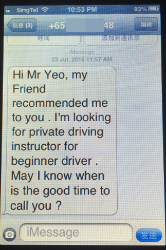Private Driving Instructor Testimonials 10